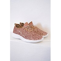 Glitter Bomb Tennis Shoe | Rose Gold| Best Seller