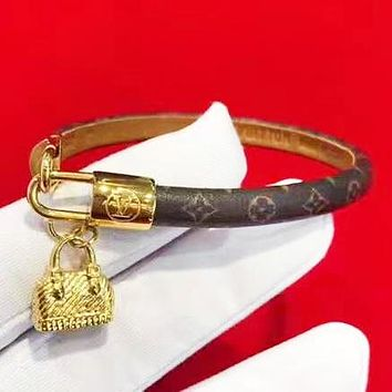 Louis Vuitton LV New Fashion Monogram Lock Bracelet Accessories Women