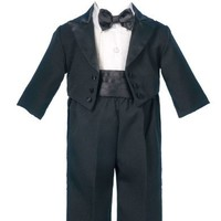 Lauren Madison baby boy Christening Baptism Infant  Tuxedo With Tails
