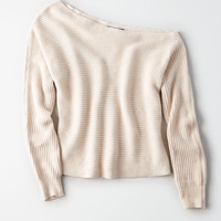 AE Off-The-Shoulder Dolman Sweater, Oatmeal