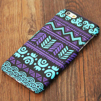 Turquoise Violet Tribal Ethnic Pattern iPhone 6 Case/Plus/5S/5C/5/4S Protective Case #704