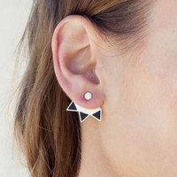 Earrings for women Triangle Brincos Earrings Silver Jewelry Ear cuff Fine Jewelry  Silver = 5613040001