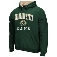 Colorado State Rams Arch & Logo Mascot Pullover Hoodie – Green
