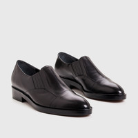 Slip-On Derby - Black Leather