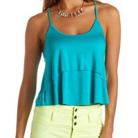 Layered Racerback Swing Tank Top by Charlotte Russe