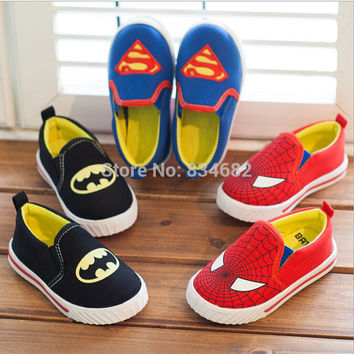 Children Superman Spiderman Batman  Shoes Size 21-35 Fashion Sneakers