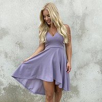 Deep In Love Hi Low Dress in Lavender