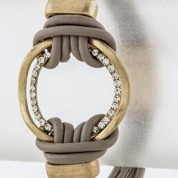 Looped Leather Bracelet