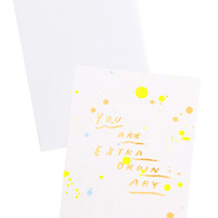 Splatters You Are Extraordinary Card