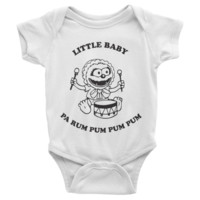 Little Baby (Animal) Pa Rum Pum Pum Pum Infant short sleeve one-piece