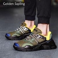 Golden Sapling Man Sneakers Men Sport Shoes Breathable Air Mesh Fabric Men's Sneaker Fitness New Male Tennis Shoes Training Shoe
