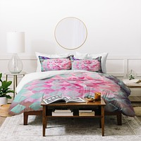 Maybe Sparrow Photography Floral Diamonds Duvet Cover