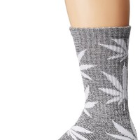 HUF Men's Plant Life Crew Socks, Charcoal/Gray Heather/White, One Size