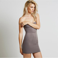 Spaghetti Strap Body-con Mini Dress