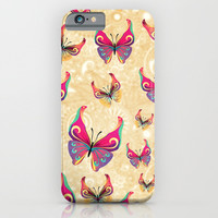 BUTTERFLIES PATTERN - for iphone iPhone & iPod Case by Simone Morana Cyla