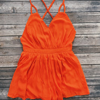 Summer Nights Romper (Orange)