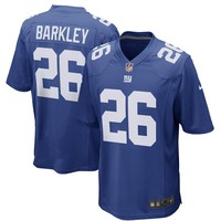 Men's New York Giants Saquon Barkley Nike Royal 2018 NFL Draft First Round Pick Game Jersey