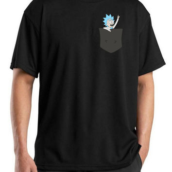 Pocket Tiny Rick Mens T-shirt - Rick & Morty Season 3 Comedy T-shirt