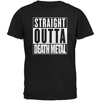 Straight Outta Death Metal Black Adult T-Shirt
