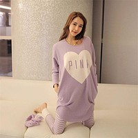 2016 Winter Women Pajama Sets Autumn Sleepwear Pajamas girls night Homewear For Women Nightgown top + pants