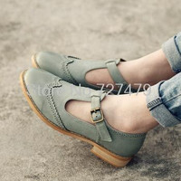 New style female oxfords shoes British style carved leather flats women  casual high quality #C072