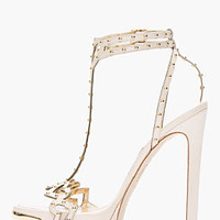 Dsquared2 Nude Studded Love High-heeled Sandals for women | SSENSE