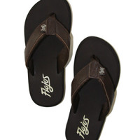 Boy's Cole Leather Sandals in Brown - Island Importer