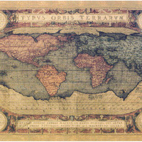 Antique Map Tapestry Wall Art Hanging
