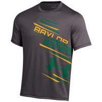 Baylor Bears Under Armor Side Print Performance T-Shirt - Charcoal