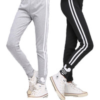 Girls Leggings Cotton Sports Pants For Girls Trousers 6 8 10 12 14 Years Striped School Kids Clothes Teenager Children Clothing