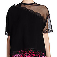 Christopher Kane - Mesh & Lace Top - Saks Fifth Avenue Mobile