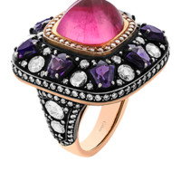 GİLAN - Purple Tulips and Endless Love Heritage ring