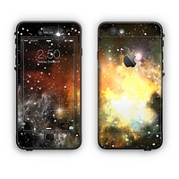 The Glowing Gold & Black Nebula Apple iPhone 6 Plus LifeProof Nuud Case Skin Set