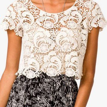 Damask Crop Top