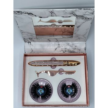 Hollywood 3D Mink Lash Set Kit