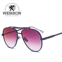 High Quality Men Women Aviator Sunglasses Reflective Coating Mirror Alloy Frame Thom Browne Style Oculos With Cloth