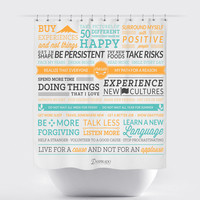 Resolutions Fabric Shower Curtain