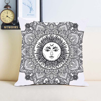 Mandala Cushion Home Decorative Pillow Cover for Size 24x24 inch