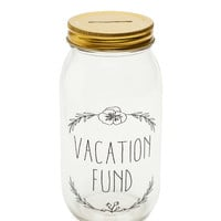 Vacation Fund Mason Jar Coin Bank