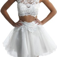 Vienna Bride A-line Lace Two Piece Prom Cocktail Homecoming Graduation Dresses