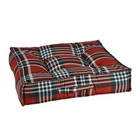 MicroVelvet Square Piazza Dog Bed — Royal Troon Tartan