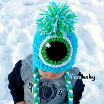 Baby Hats Monster Hat Beanie with Earflaps Toddler Boy Clothes Kids Hats