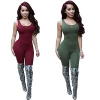 Backless Jumpsuit Body Tank Top Sexy Romper Bodysuits Plus Size Rompers Womens Jumpsuit Playsuit Overalls For Women Jumpsuits