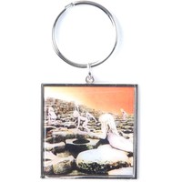 Led Zeppelin Houses Of The Holy Metal Key Chain Silver
