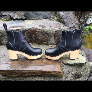 Toffel Hasbeens Swedish Boot Clogs Size 36