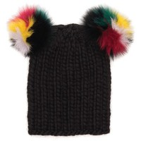 Eugenia Kim 'Mimi' Wool Beanie with Genuine Fox Fur Pompoms | Nordstrom