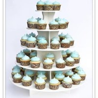 """The Smart Baker® 5 Tier Round Cupcake Tower Stand Holds 90+ Cupcakes """"As Seen on Shark Tank"""""""