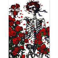 Grateful Dead - Skeleton & Roses Tapestry