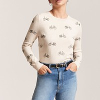 Bicycle Graphic Sweater