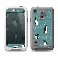 The Vintage Penguin Blue Collage Samsung Galaxy S5 LifeProof Fre Case Skin Set